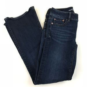 AEO American Eagle Womens Jeans 2 SHORT Flare